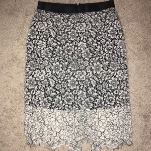 ❗️Express Pencil Skirt with White Lace Overlay ❗️